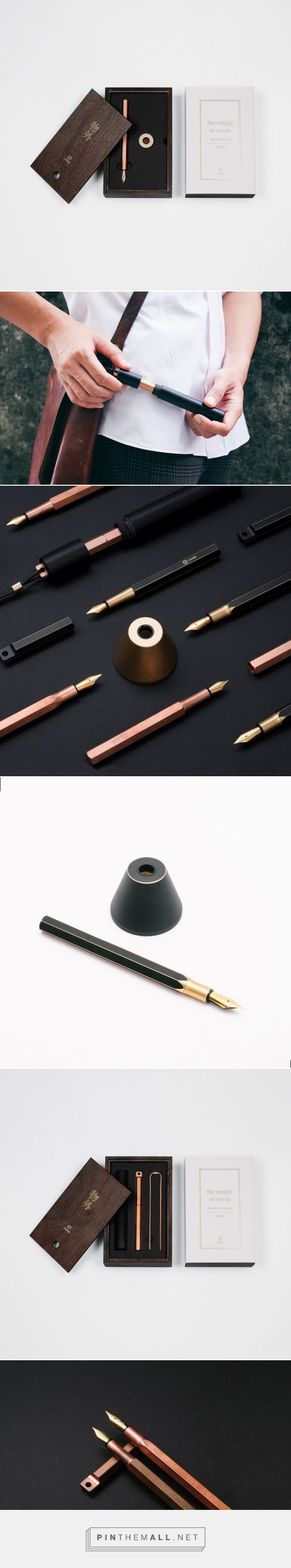 The Weight Of Words - Fountain Pen - Packaging of the World - Creative Package Design Gallery - http://www.packagingoftheworld.com/2016/11/the-weight-of-words-fountain-pen.html