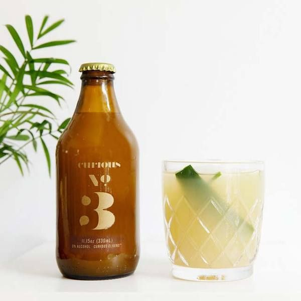 Can You Get Drunk Off Kombucha Booze Free Craft Cocktails Curious Elixir No 3 Is Nspired By Classic Cocktailslike The Bee S Knees And The Cucumber Collins Craft Cocktails Cocktails Booze