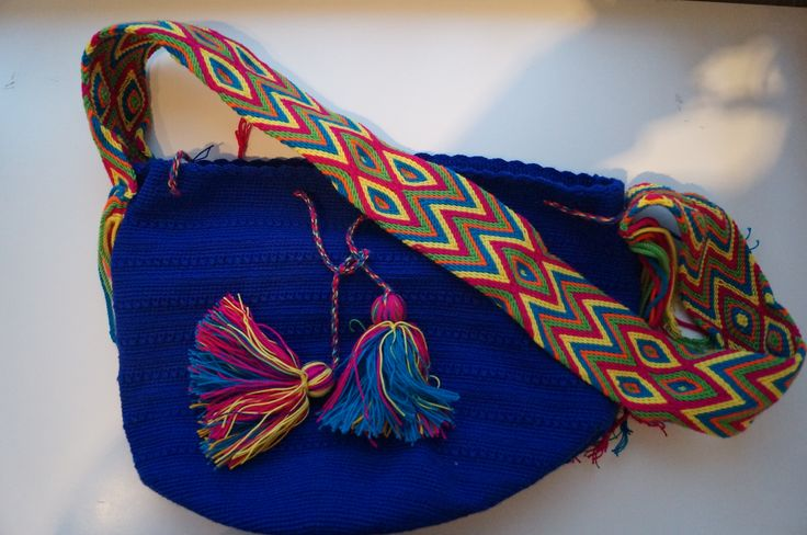 Blue Wayuu bag
