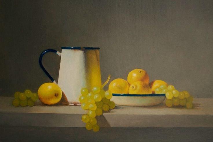 Enamel Jug with Lemons