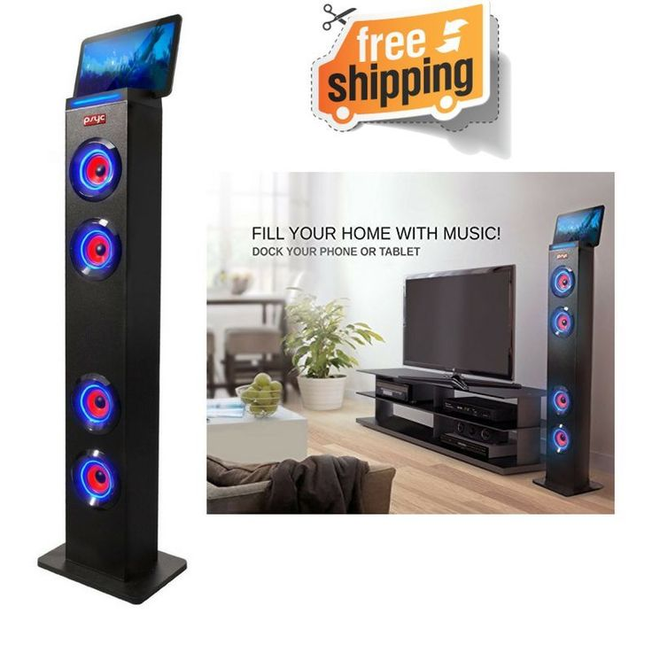 Wireless Bluetooth Tower Speaker Speakers Stand PC IPhone Samsung Radio USB BT