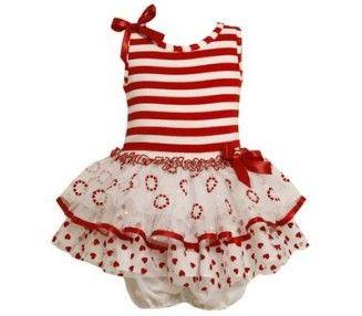 www.mylittlematilda.com.do  Ref. 9453 Vestido Rojo y Blanco de Vuelos, Tamaños 12M, 18M, 24M, RD$1,595