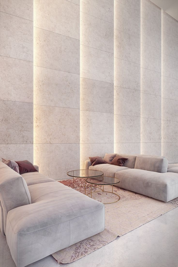 Light in architecture - travertine wall on Behance