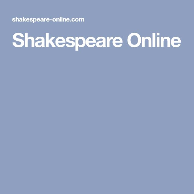 Shakespeare Online
