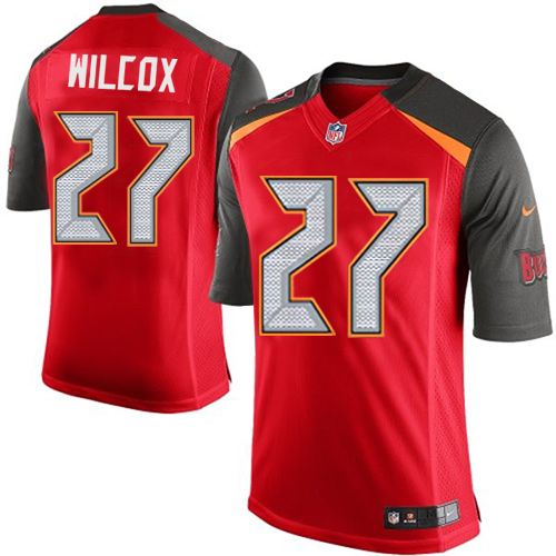 Youth Nike Tampa Bay Buccaneers #27 J.J. Wilcox Limited Red Team Color NFL Jersey