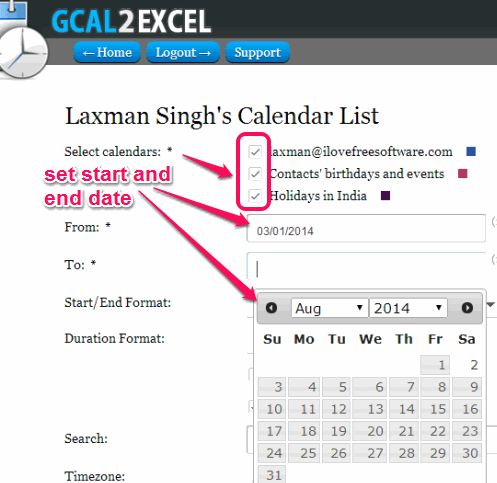 how to see invited calendar in google calendars