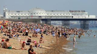 Hottest June day since summer of 1976 in heatwave