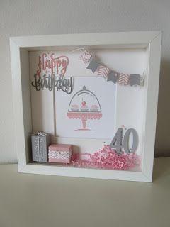 Zur gestrigen Card in a Box *CLICK* in rosa gesellt sich heute der passende Rahmen. Den Rahmen hatte die Kundin ähnlich be…
