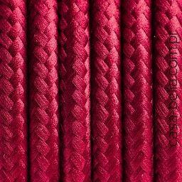 Przewód zasilający Burgundzkie Wino od Kolorowe Kable- burgundowy kabel - casa-bella - oświetlenie to nasza pasja