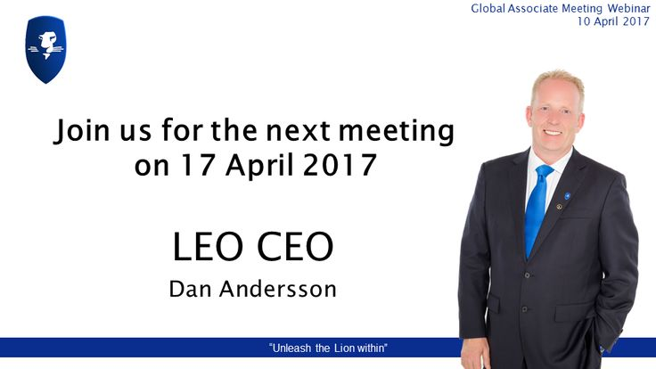 """I N V I T A T I O N: Join us for the next meeting taking place on 17 April 2017. If you register for the """"Global Associate Meeting Webinar"""" you will receive a reminder email with the link to join the webinar. FREE EVENT #elearning #digitalcurrency #crowdfunding #prosperwithLEO"""