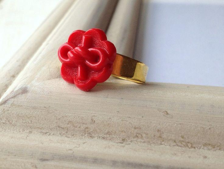 ⚓ Maritimer Schiffsknoten ⚓ Vintage-Knopf ⚓ Ring ⚓ von Ann & für mich auf DaWanda.com