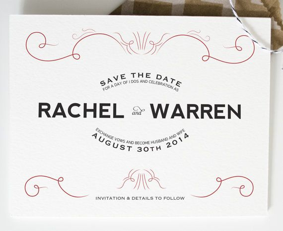 Old Hollywood - Wedding Save-The-Dates