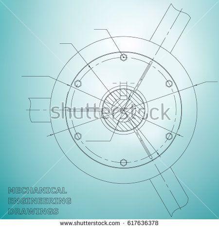 Mechanical engineering drawings. Engineering  #bubushonok #art #bubushonokart #design #vector #shutterstock  #technical #engineering #drawing #blueprint   #technology #mechanism #draw #industry #construction #cad