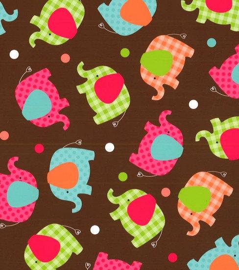 Bright Fun Elephant Fabric