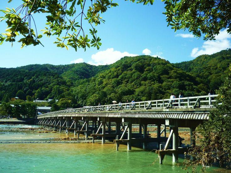 京都市:元気です!京都 嵐山「渡月橋」の風景が戻りました!