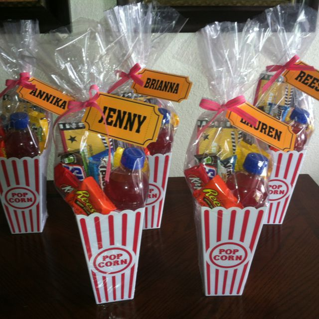 Movie Birthday Favors