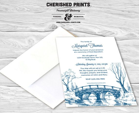 28 best Invitations, Announcements, and Mourning Cards images on - memorial service invitation wording