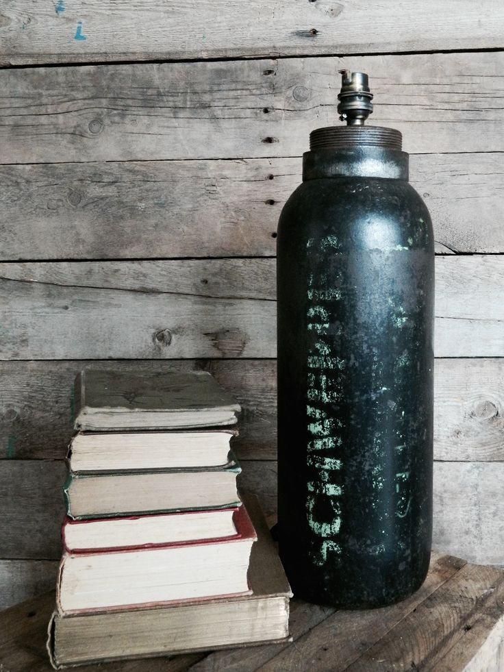Schwepps Converted Canister Table Lamp