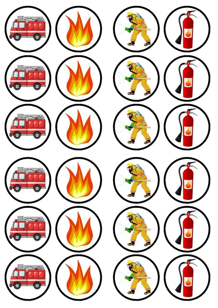 Fireman Fire Engine Edible PREMIUM SWEETENED Wafer Paper Cupcake Toppers in Crafts, Cake Decorating | eBay