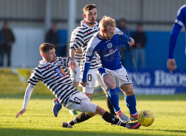 Queen's Park's Paul Woods in action during the Ladbrokes League One game between Stranraer and Queen's Park.