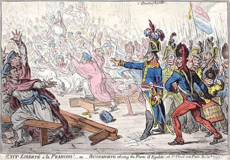 #BastilleDay Napoleon seizes French Liberty in Buonaparte closing the farce of Egalite, 1799.