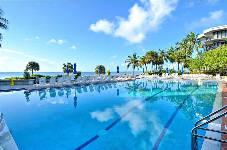 Shared Olympic sized pool overlooking the Atlantic Ocean #PapayaPlace #KeyWest #AHKW