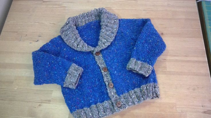 Boy's cardigan. knitted with Donegal Aran (Debbie Bliss) #cardigan #knit #knitforboys