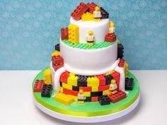 Lego Cake  #tutorial #cake #fondant #lego
