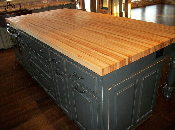 Kitchen Islands With Stove Built In Borders Cutting Board Top