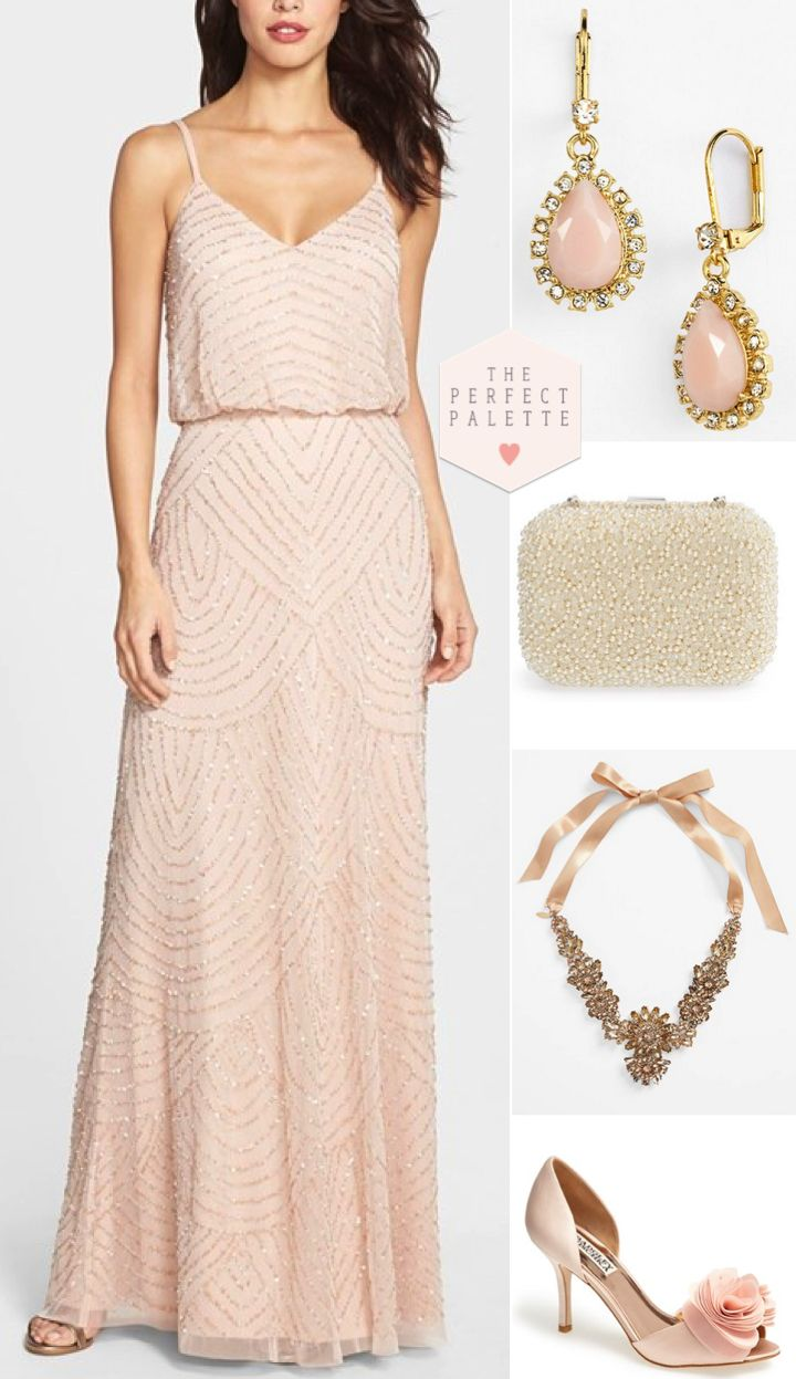Bridesmaid Looks You'll Love  - http://www.theperfectpalette.com/2015/01/bridesmaid-looks-youll-love-embellished.html - Styled Pretty