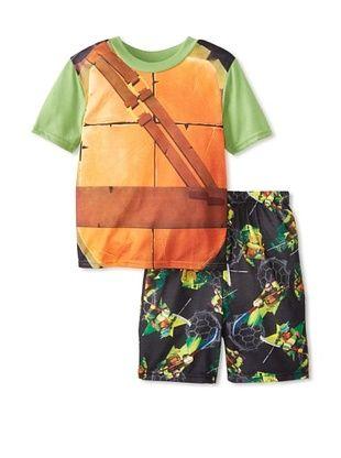 56% OFF Kid's Ninja Turtle 2-Piece Pajama Set (Green Multi)