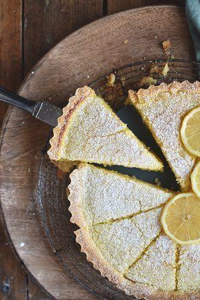 Zitronen-Buttermilch-Shortbread-Tarte: Frühlingsgefühle