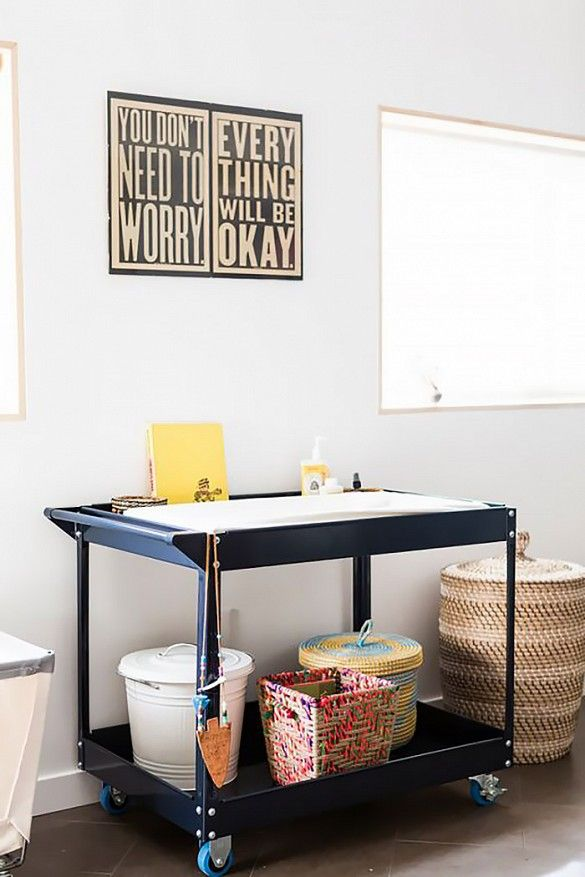 A Bright, Eclectic San Diego Nursery Changing Table