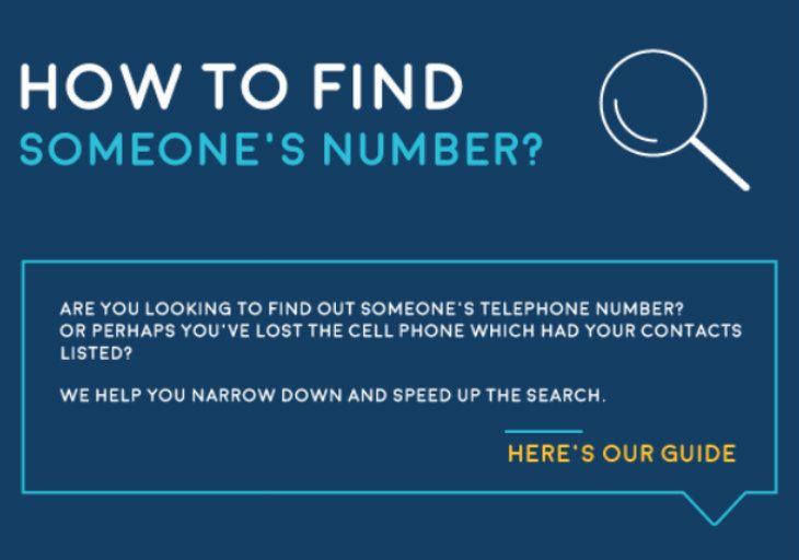 How to find someones mobile number when you have their address
