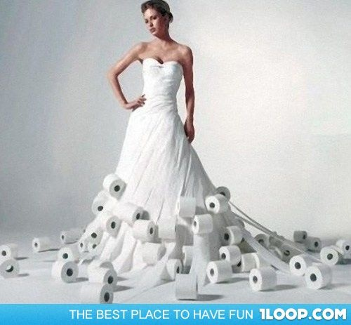 43 best NEATTOILET PAPER DRESSES images on Pinterest Wedding