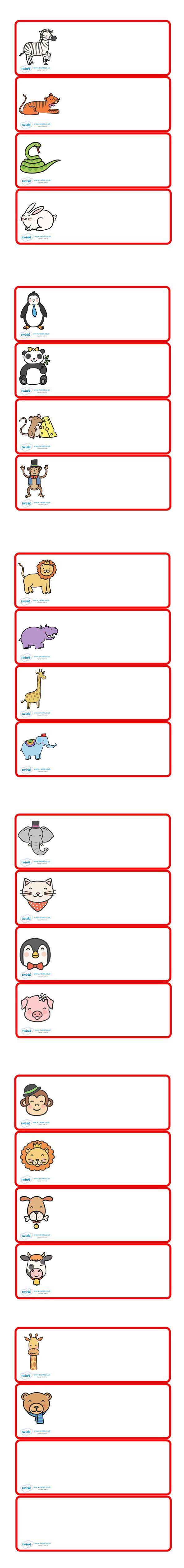 naamkaartjes dierentuin