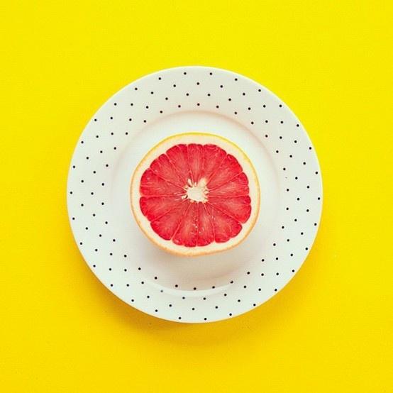 pamplemousse + pois + jaune