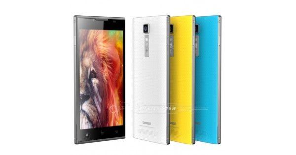 "Doogee TURBO DG2014 5.0 "" HD IPS OGS pantalla capacitiva 13.0MP cámara MTK6582 Quad Core Android 4.2 8 GB ROM 3 G amarillo del teléfono móvil"