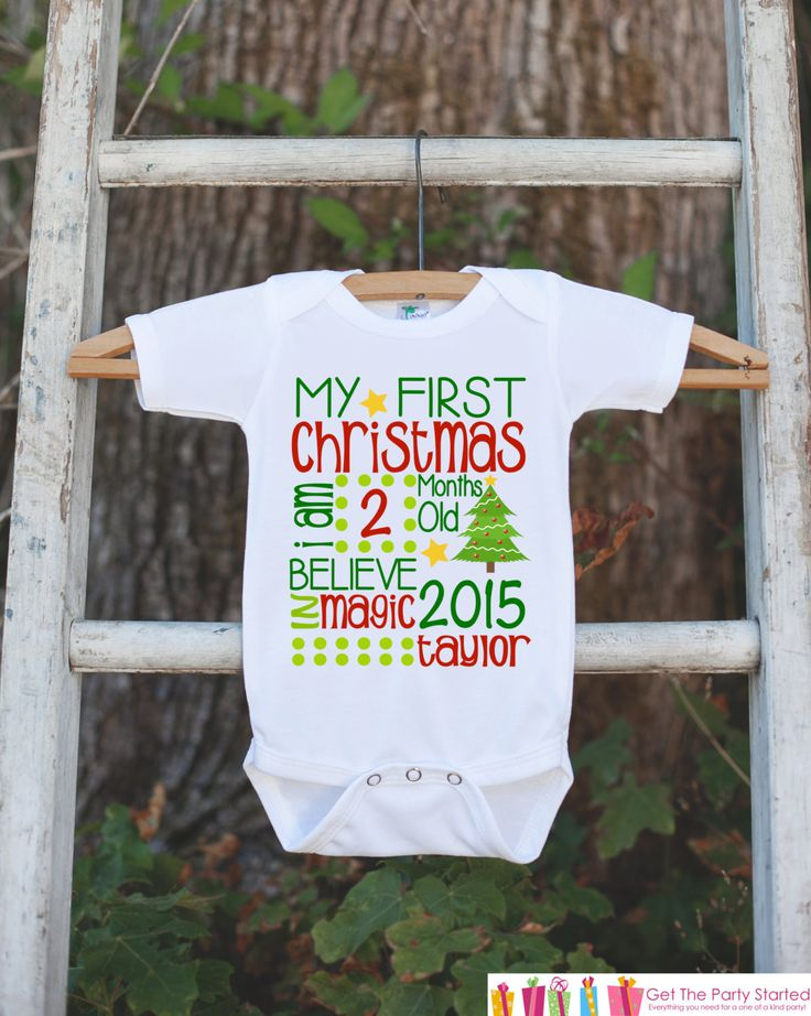 This adorable Christmas onepiece is a perfect way to celebrate your baby's first holiday! It is just waiting to be worn by the little one in your life! Our graphics are professionally printed directly