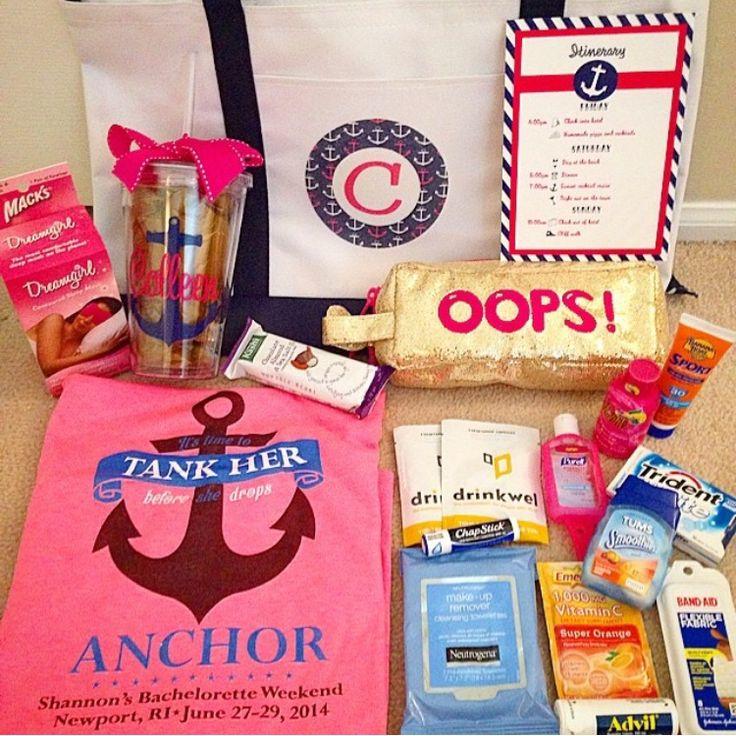 Cruise Wedding Gift Bag Ideas : ideas about Bachelorette Gift Bags on Pinterest Bachelorette Gifts ...