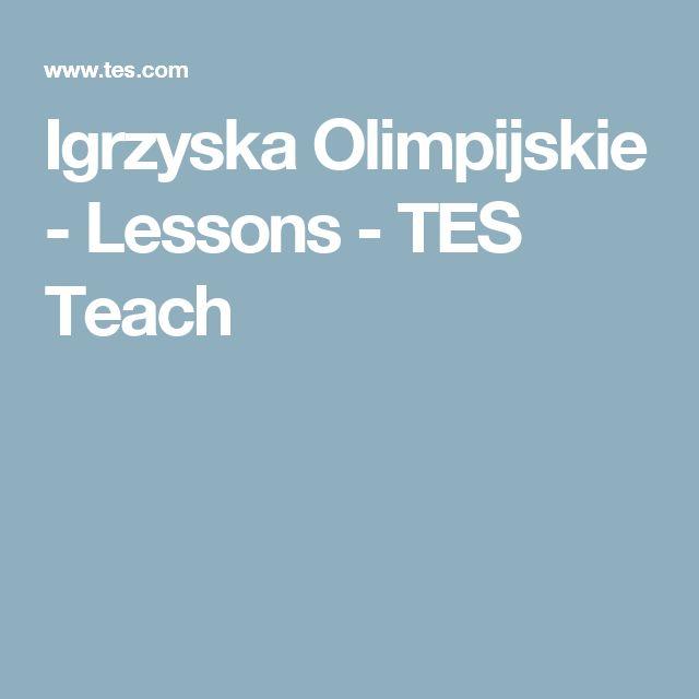 Igrzyska Olimpijskie - Lessons - TES Teach