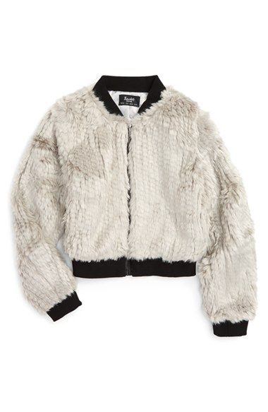 Free shipping and returns on Bardot Junior Faux Fur Bomber Jacket (Toddler Girls, Little Girls & Big Girls) at Nordstrom.com. A classic bomber jacket goes glam with a lavishly textured faux-fur finish to serve as a showstopping essential for any budding fashionista.