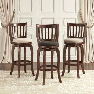 TRIBECCA HOME Ali Modern Linen 29-inch Bar Height Swivel Stool | Overstock.com Shopping - The Best Deals on Bar Stools