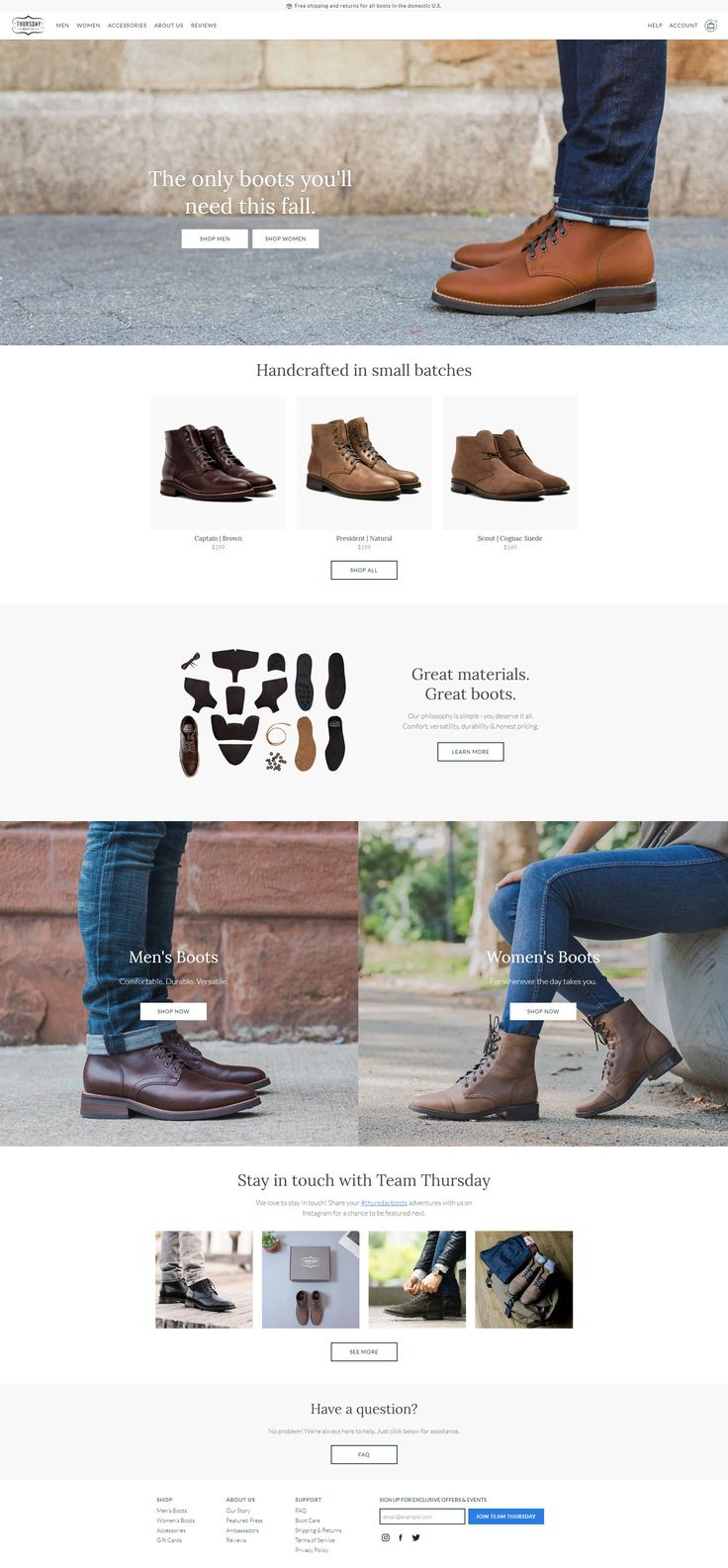 Thursday Boot Company #design #webdesign #flatdesign #inspiration