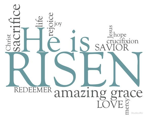 """FREE Printable """"He is Risen"""" from StudioJRU and (in)courage"""