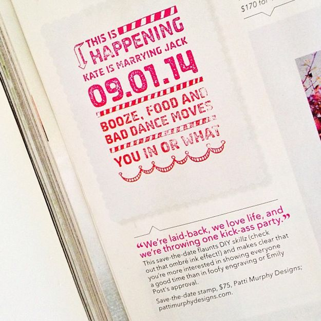 Brides Magazine Save The Date Stamp