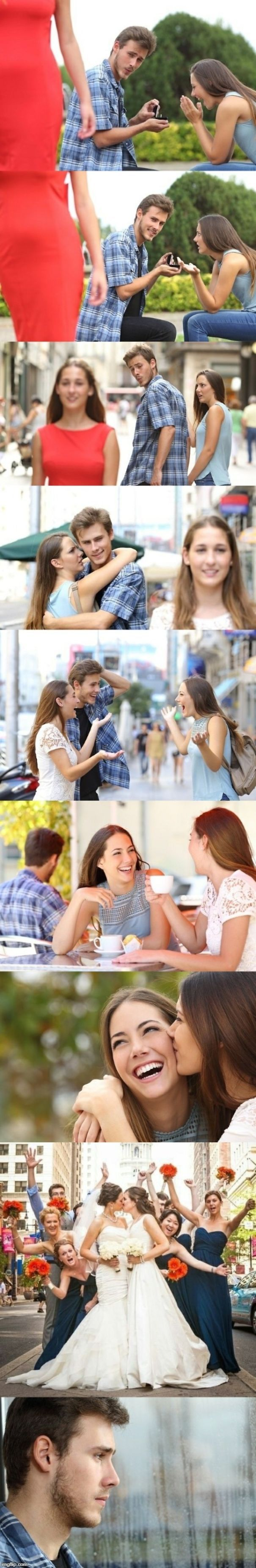 The Distracted Boyfriend Meme Gets An Unexpected Twist In This Funny Comic Boyfriend Memes Funny Comics Memes