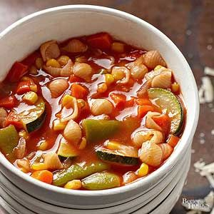 If you don't have macaroni handy, any small pasta shape would work well in this slow cooker soup./