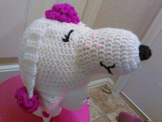 Crochet Fifi hat Snoopy's girlfriend crochet dog by AreEsCrafts