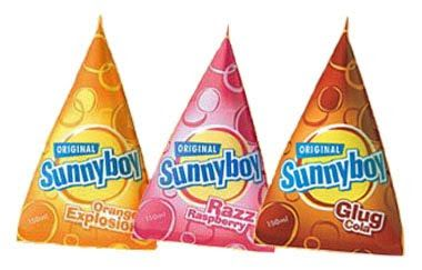 Sunnyboy Cola get them hot wait all day till they freeze then eat.